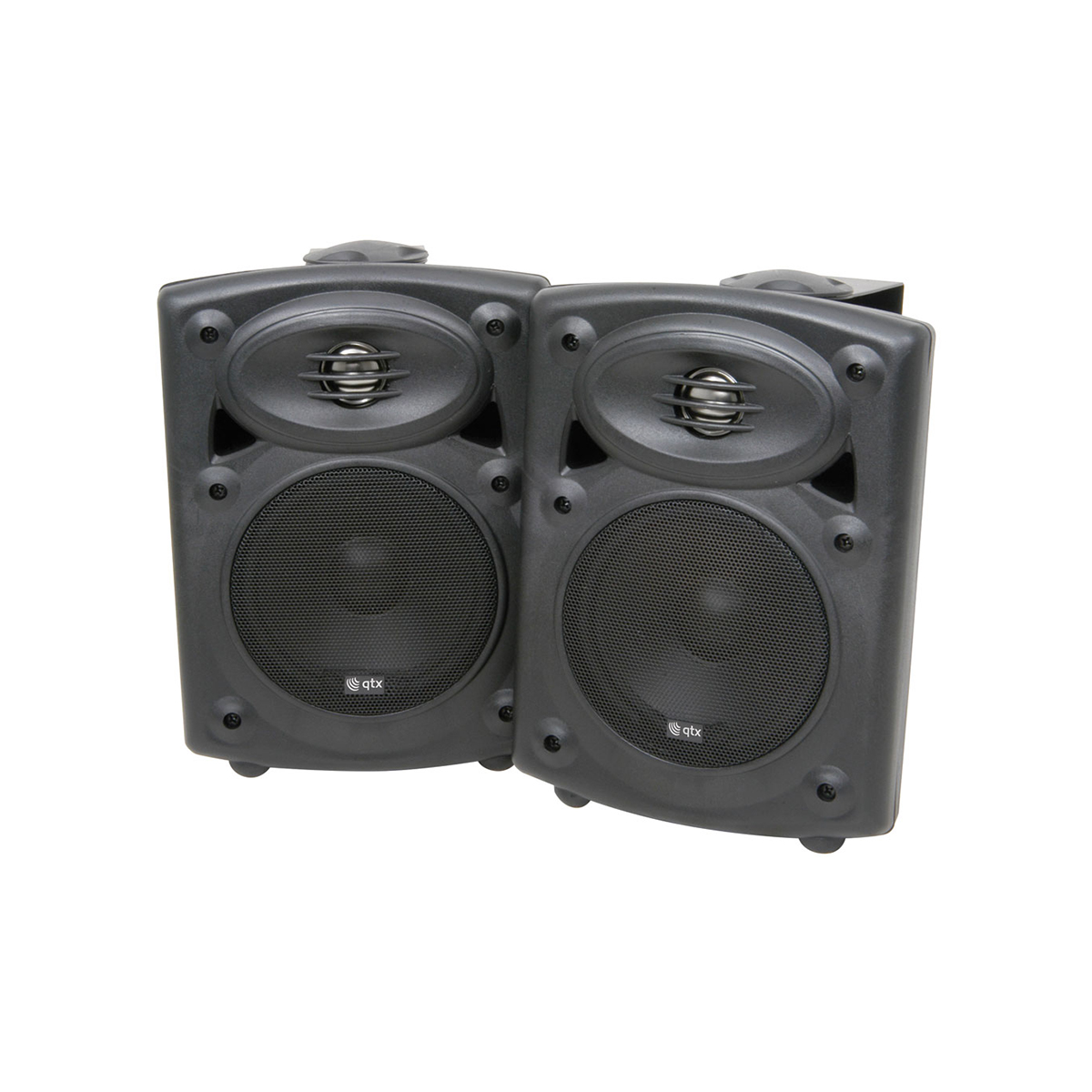 QTX QR5W 40 Watt Amplified Stereo Speaker System Black