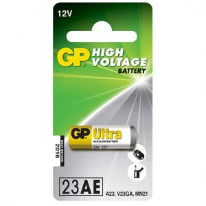 The GP Car Alarm Battery - 23AEis in line with the most advanced remote control systems. Meeting the highest standards, they are excellent in remote controls for cars, photo equipment and other electronic devices