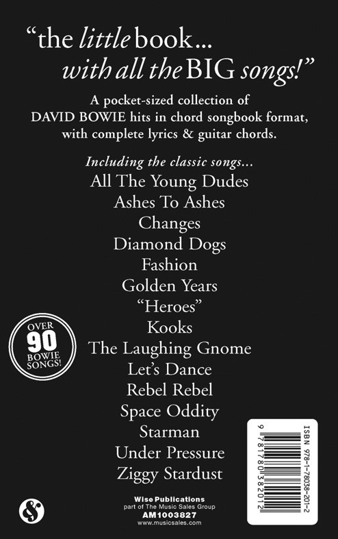 The Little Black Songbook: David Bowie - Trax Music Store