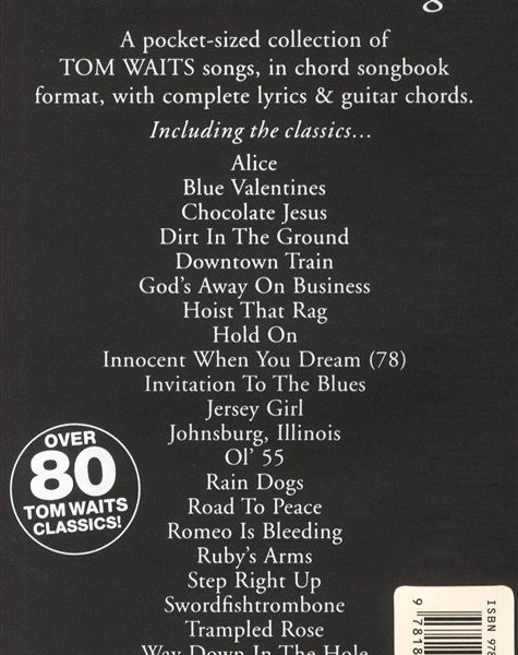 The little black songbook tom waits trax music store the little black songbook tom waits stopboris Choice Image