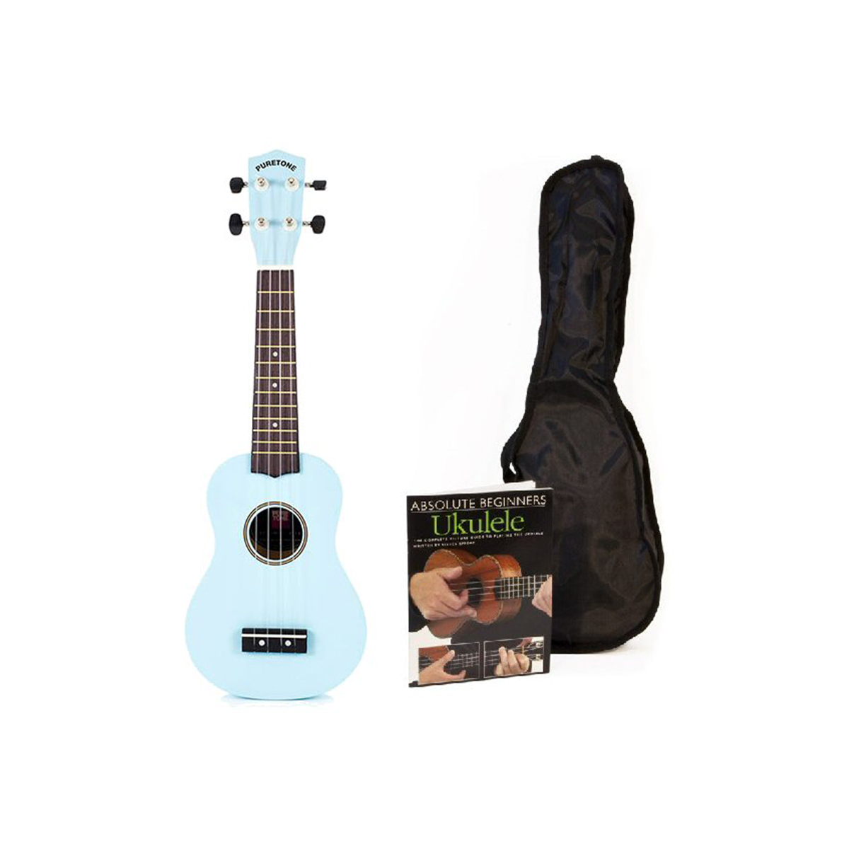 Pure Tone Ukulele Pack Surf Blue