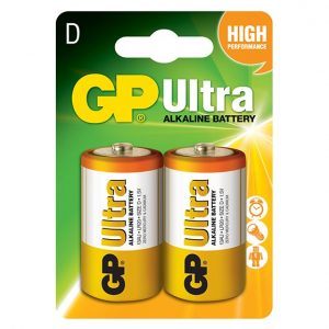 GP Ultra Alkaline Batteries D Type