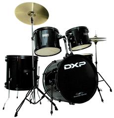 DXP JBP0803 5 Piece Drum Kit Black