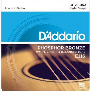 D'Addario EJ16 Phosphor Bronze Guitar Strings 12-53