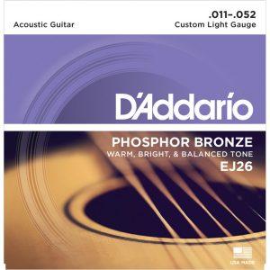 D'Addario EJ26 Phosphor Bronze Guitar String 11-52