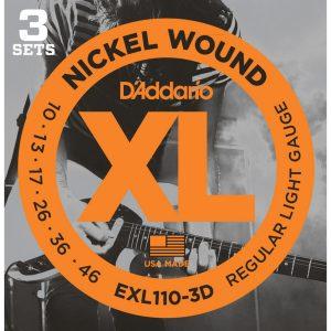 D'Addario EXL110 Regular Light 10-46 3 Pack