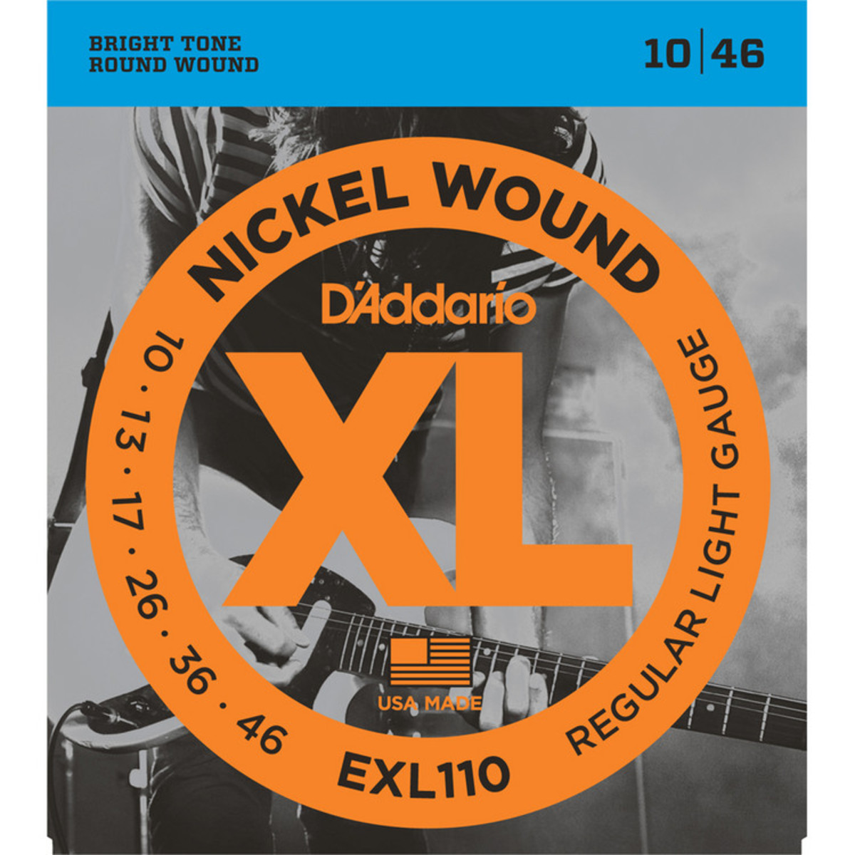 D'Addario EXL110 Guitar Strings Regular 10-46