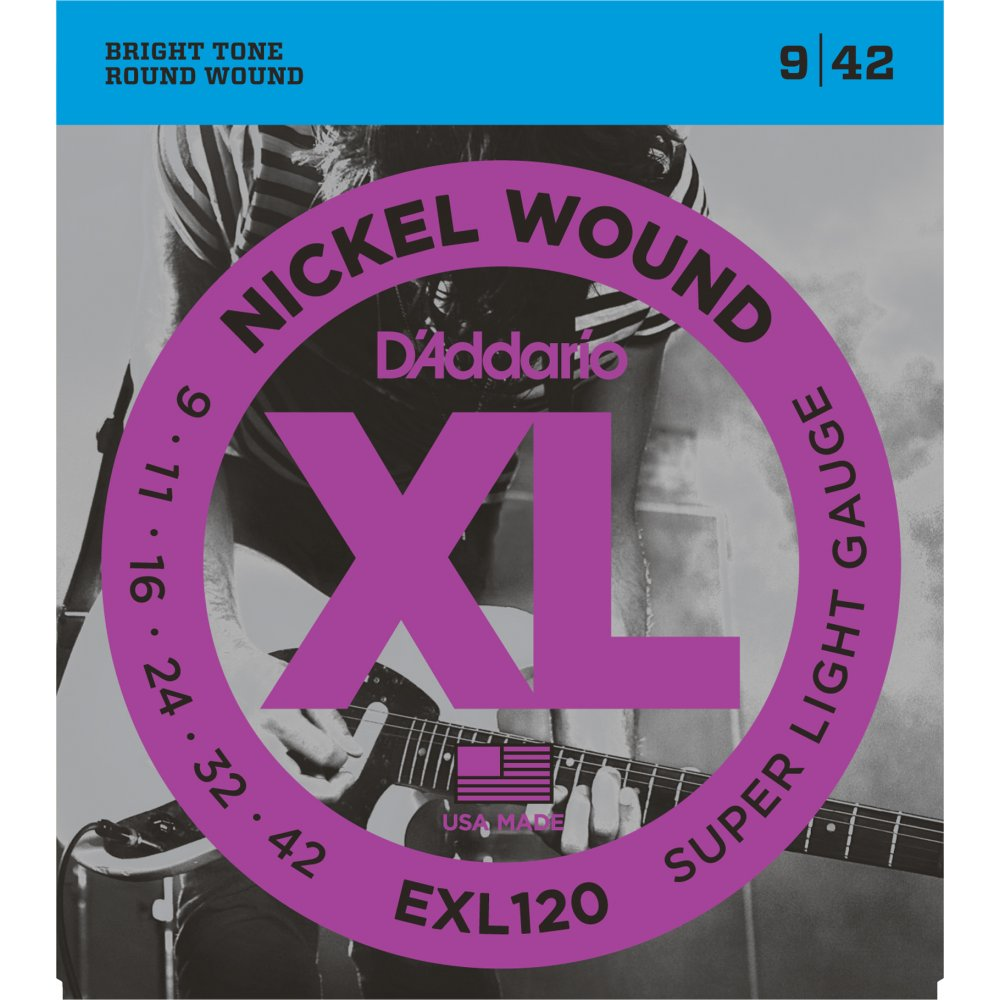 D'Addario EXL120 Electric Guitar Strings 09-42