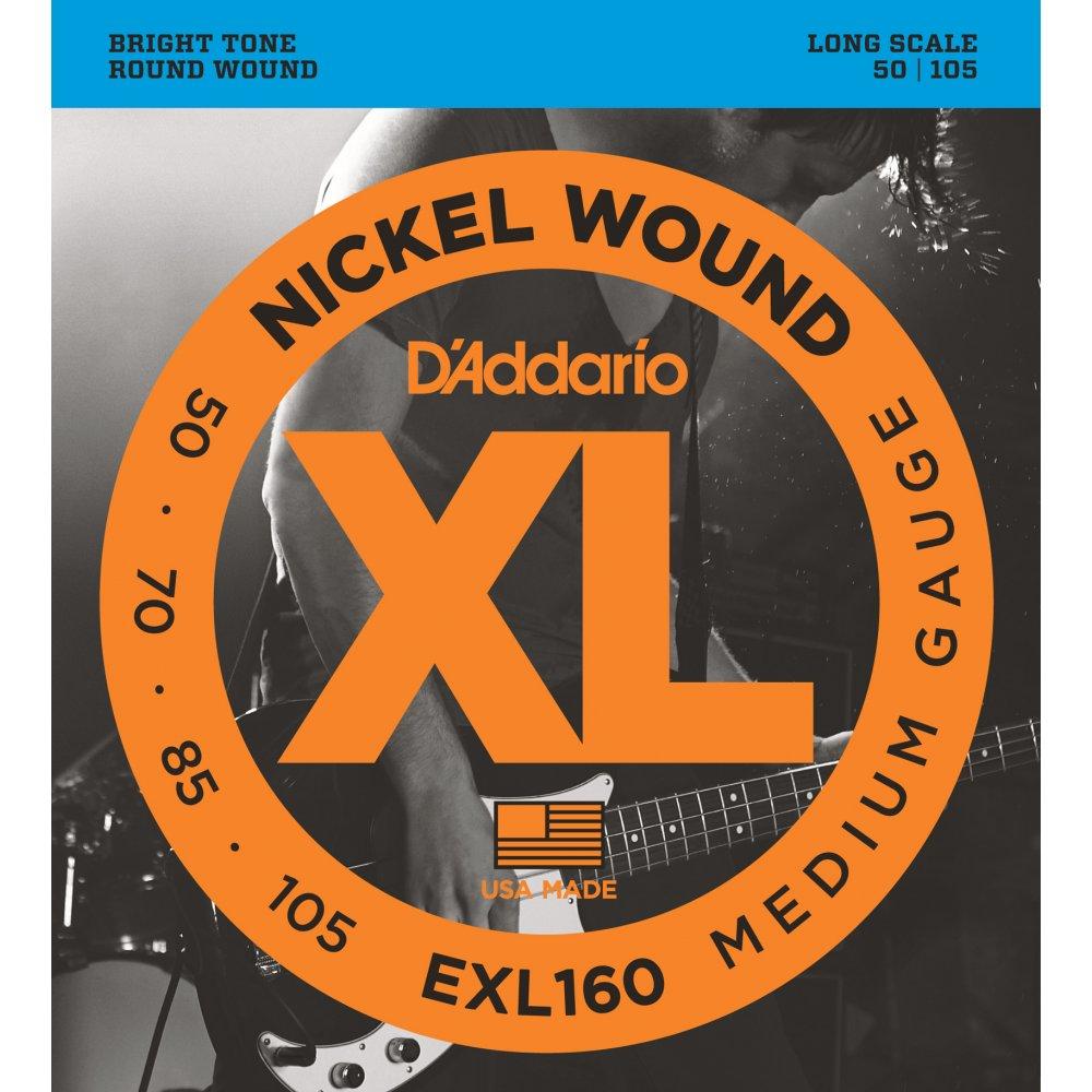 D'Addario EXL160 4-String Bass Guitar Strings