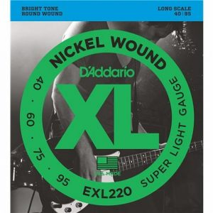 D'Addario EXL220 Bass Guitar Strings Super Light
