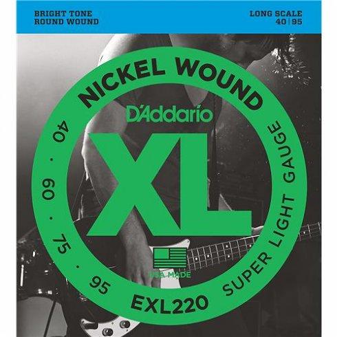 D'Addario EXL220 Bass Guitar Strings Super Light