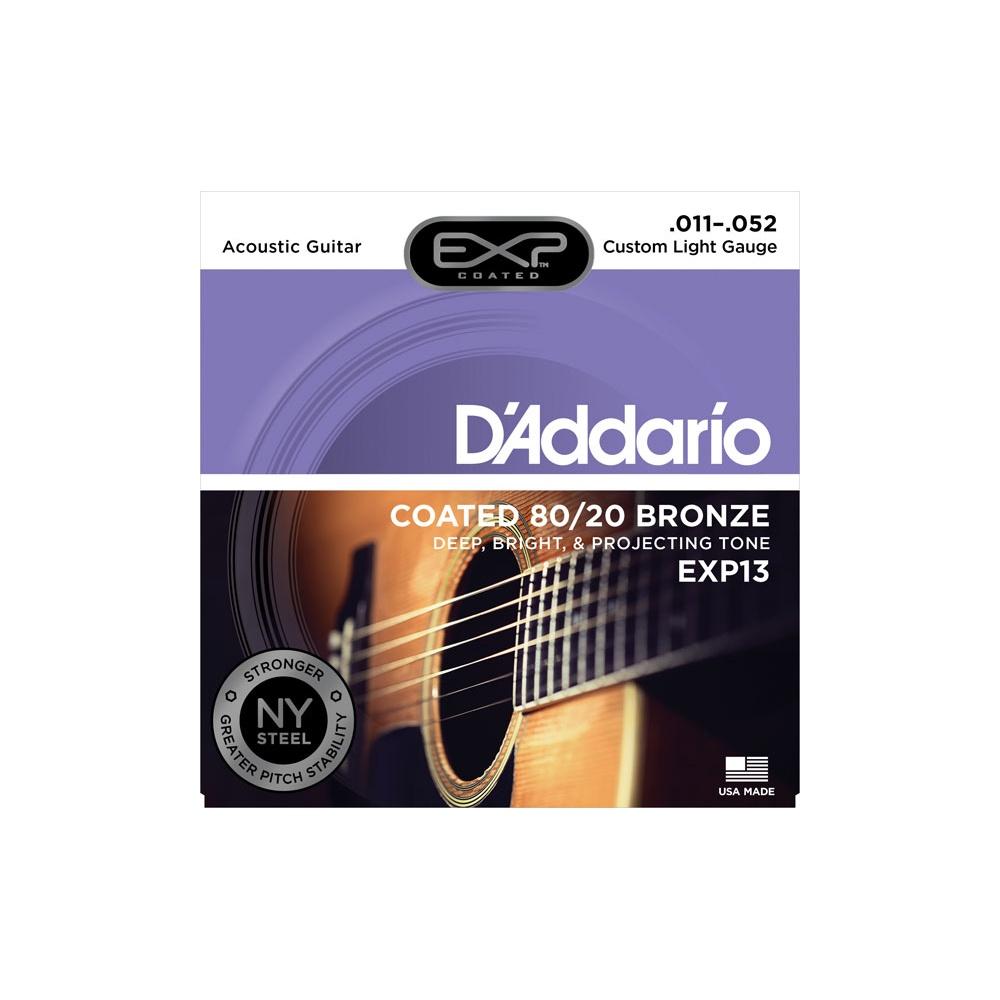 D'Addario EXP13 Bronze Acoustic Guitar Strings 11-52