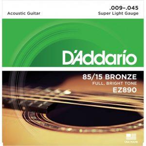 D'Addario EZ890 Acoustic Guitar Strings 09-45