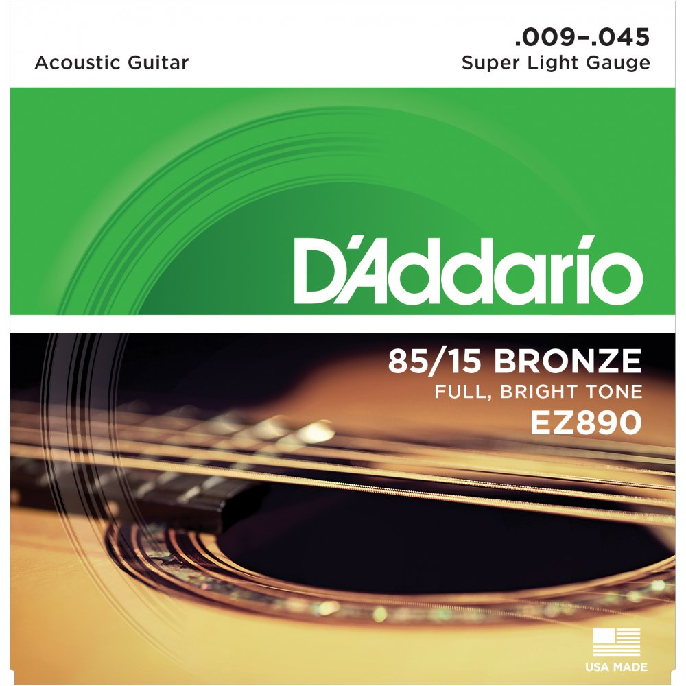 DAddario EZ890 Acoustic Guitar Strings 09-45