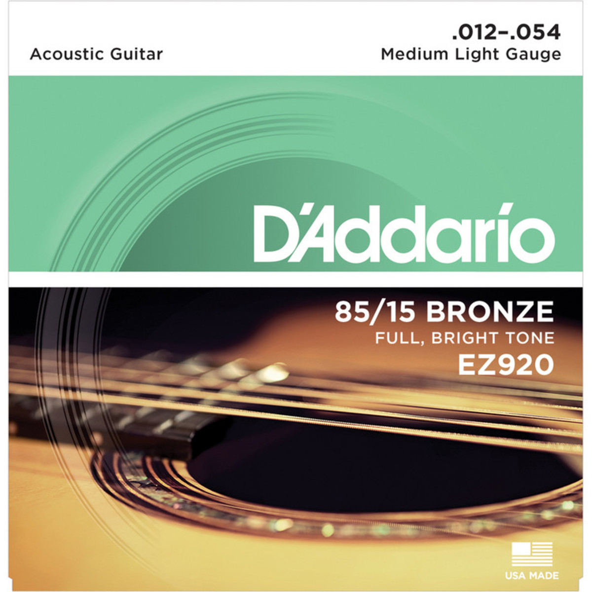 D'Addario EZ920 85/15 Guitar Strings 12-54
