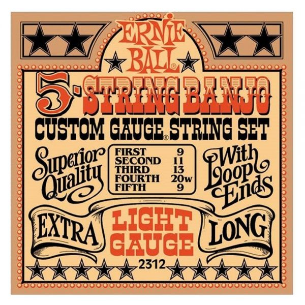 Ernie Ball 5-String Banjo Strings 09-20