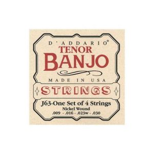 D'Addario J63 Tenor Banjo Strings 09-30