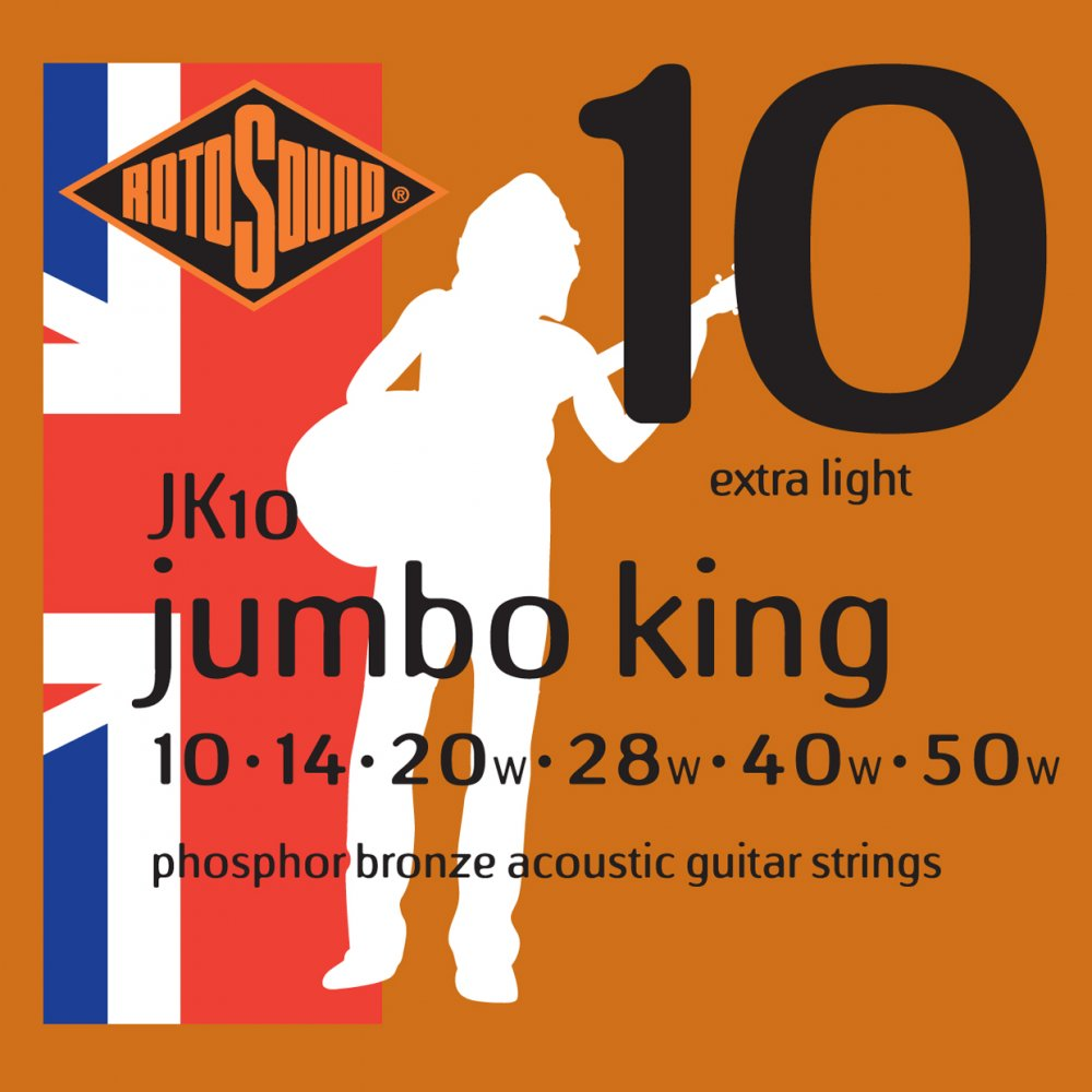 Rotosound JK10 Acoustic Guitar Strings 10-50