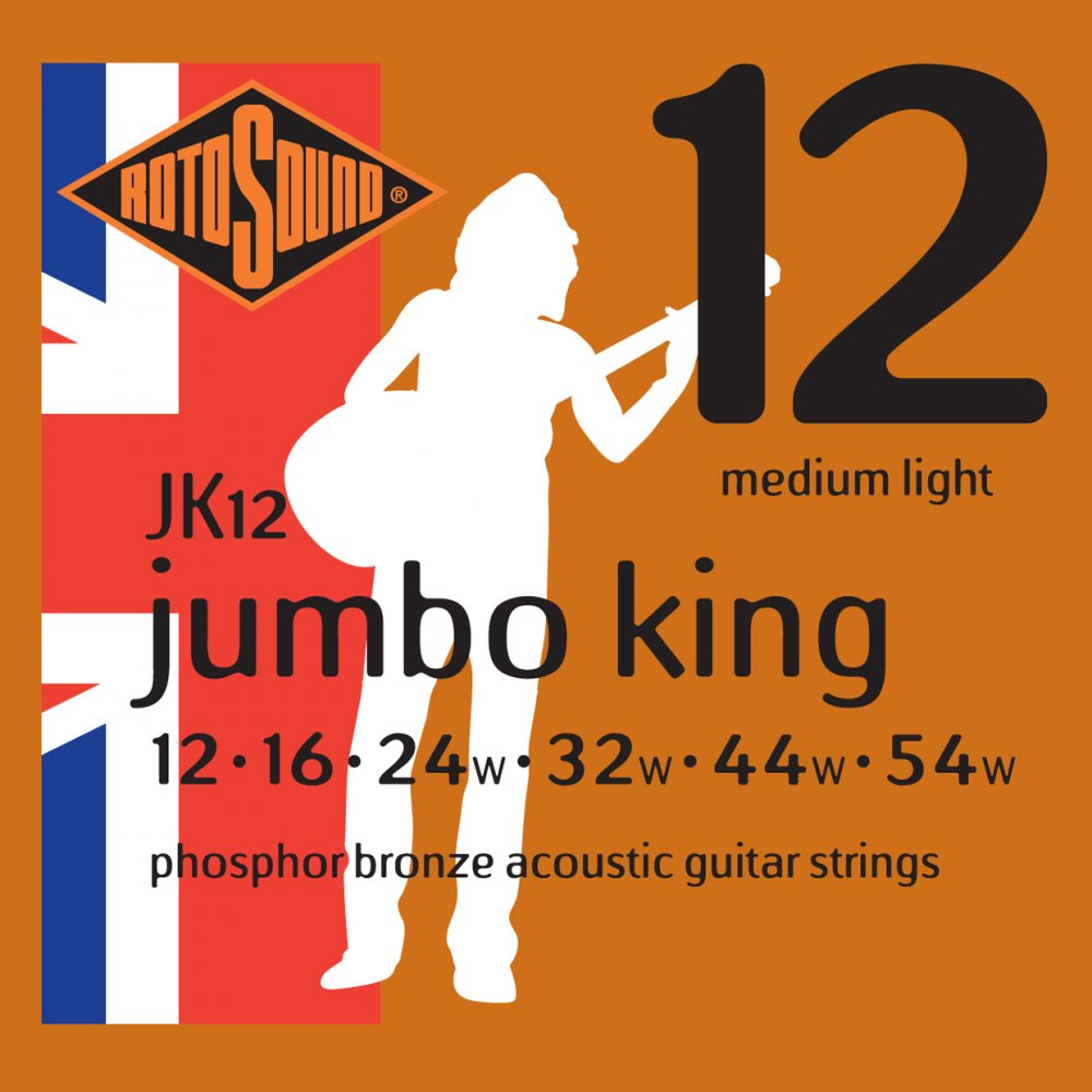 Rotosound JK12 Acoustic Guitar Strings 12-54