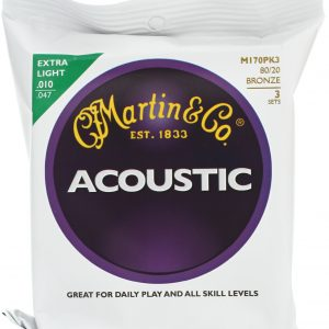 Martin M170PK3 Extra Light Acoustic Guitar Strings