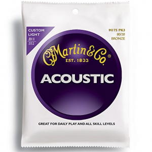 Martin M175PK3 Extra Light Acoustic Guitar Strings