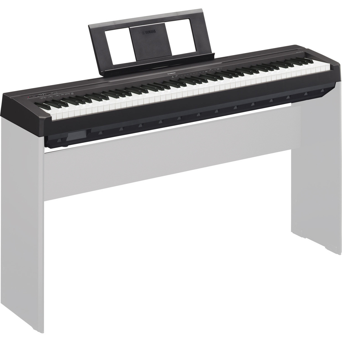 yamaha p45 digital piano black trax music store. Black Bedroom Furniture Sets. Home Design Ideas