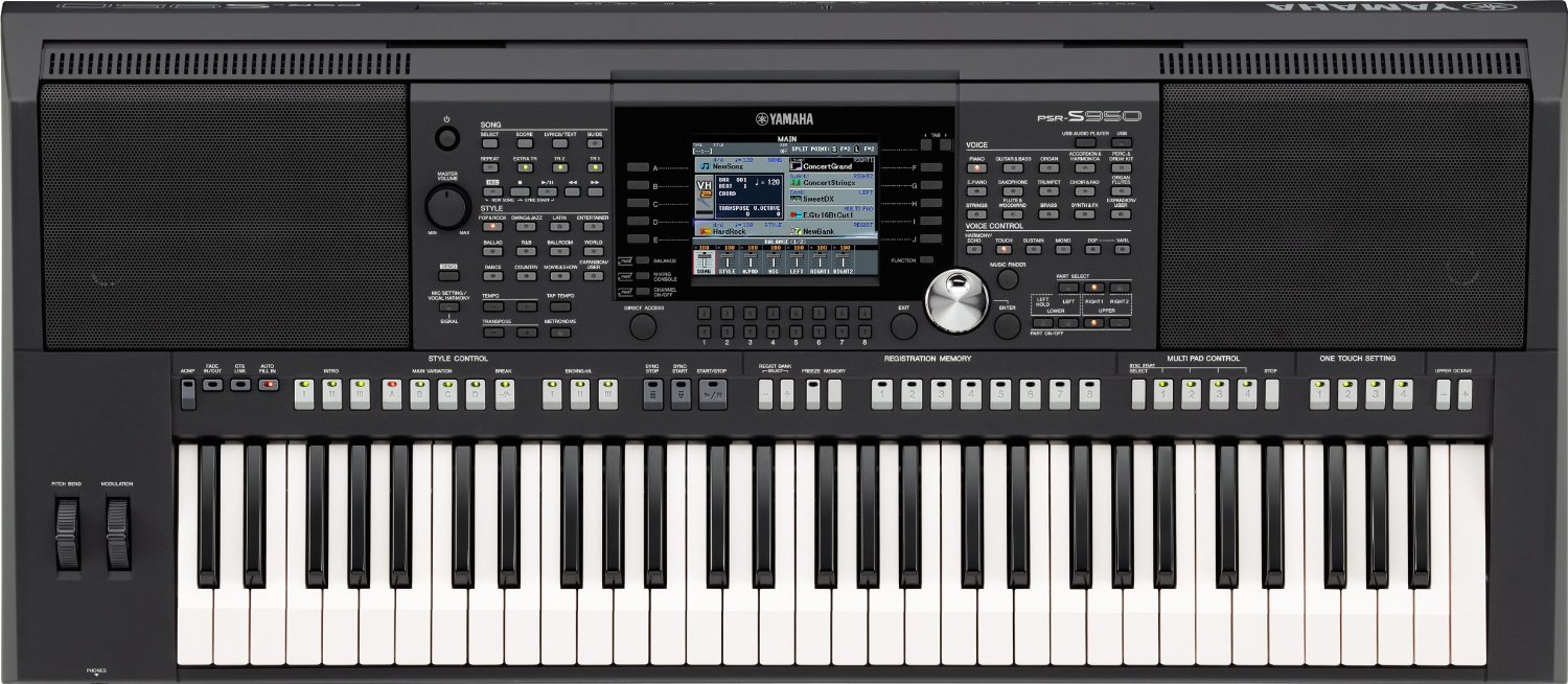 Yamaha PSR-S950 Arranger Workstation Keyboard - Trax Music ...