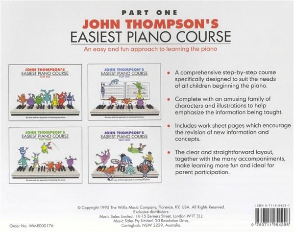 John Thompson S Easiest Piano Course Part 1 Revised Edition