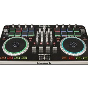 Numark Mixtrack Quad 4 Channel DJ Controller with Audio I/O