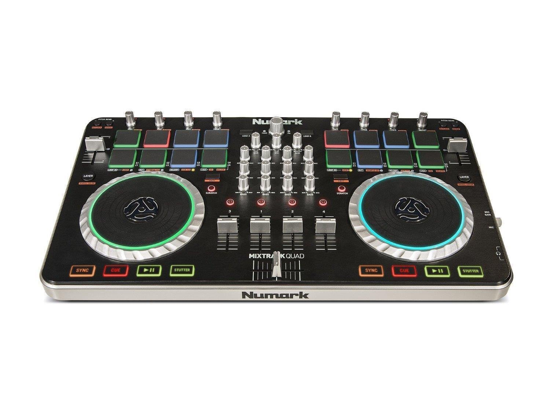 Numark Mixtrack Quad 4 Channel DJ Controller with Audio I/O