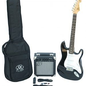 SX SE1 Strat Style Guitar Pack Black