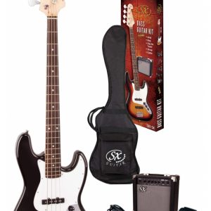 SX SB1-SK Jazz Bass Guitar kit Black