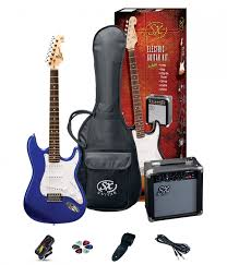 SX SE1 Strat Style Guitar Pack | Electric Blue