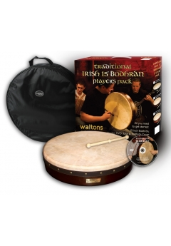 Waltons 15 inch Classic Bodhrán Pack | Dark Brown