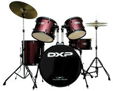 DXP JBP0803 5 Piece Drum Kit Wine Red