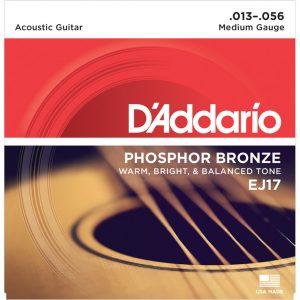 Daddario EJ17 Phosphor Bronze Guitar Strings 13-56