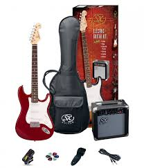 SX SE1 Strat Guitar Pack Left Hand Candy Apple Red