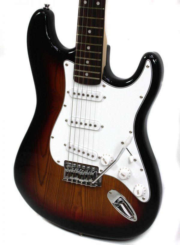 SX SE1 Strat Style Guitar Pack 3 Tone Sunburst