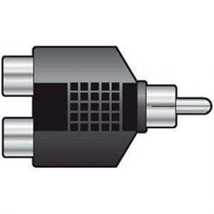 RCA Phono plug to 2 x RCA Phono Sockets