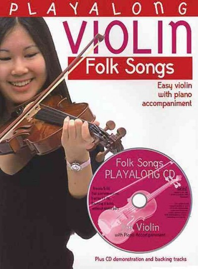 Playalong Violin: Folk Songs: Easy Violin with Piano Accompaniment