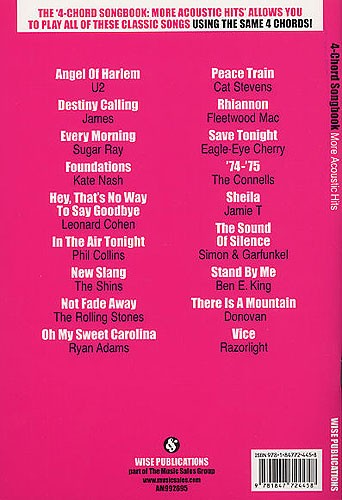 4 Chord Songbook More Acoustic Hits Trax Music Store