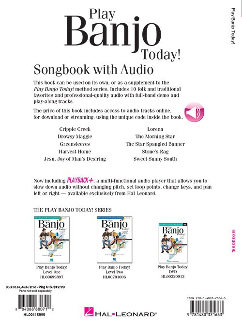 Play Banjo Today! Songbook (Book/Online Audio)