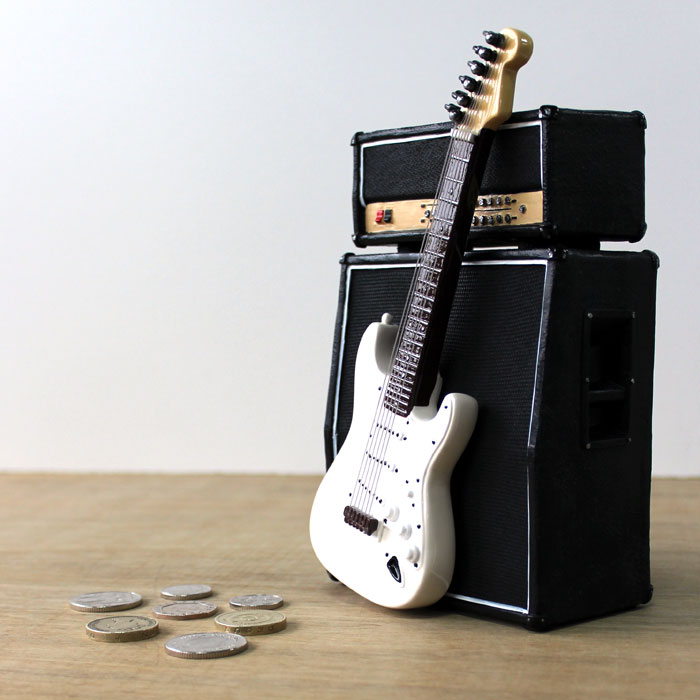 Money Box Amp Amp Guitar Strat Trax Music Store