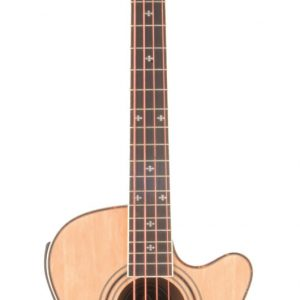 Chord CJB4CE Electro-acoustic Bass Guitar - Natural