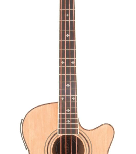 Chord Cjb4ce Electro Acoustic Bass Guitar Natural Trax Music Store