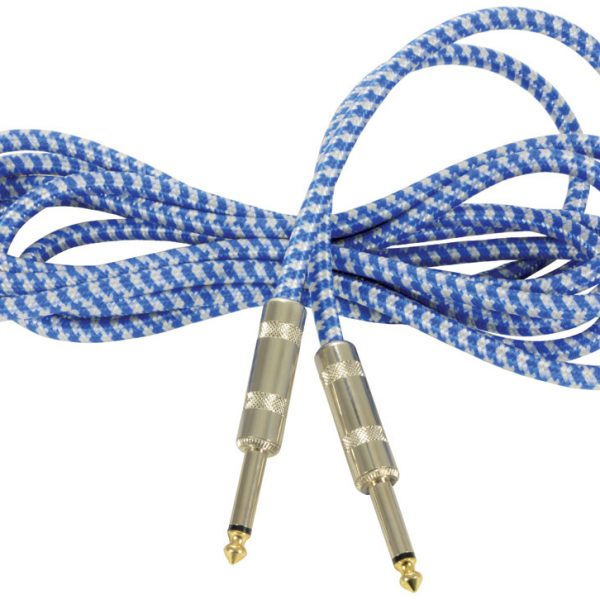 Chord Braided Guitar Lead 3 Metre -Blue/White