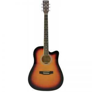 Chord CW26CE Electro Acoustic Guitar Sunburst