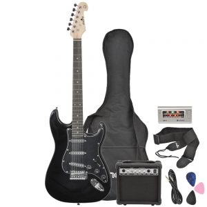 Chord CAL63PK Electric Guitar Package Black