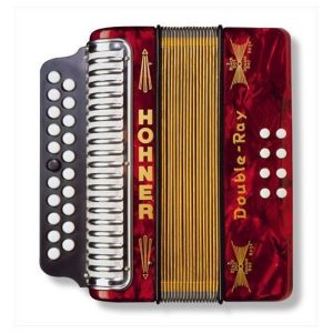 Hohner Double Ray B/C Button Accordion | Red