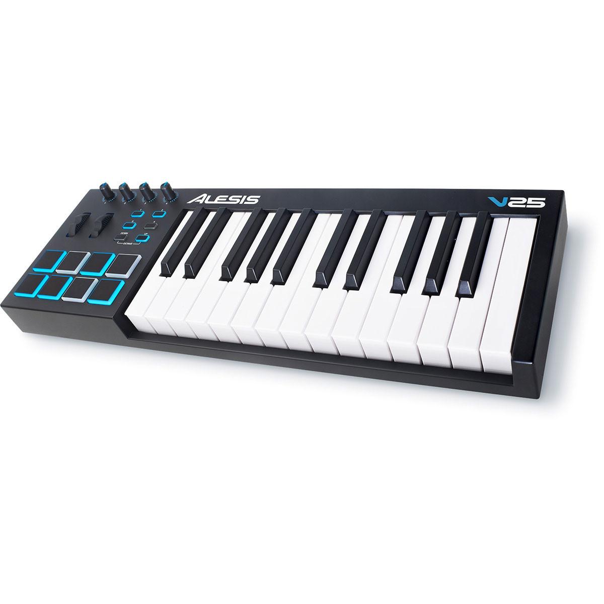 alesis v25 midi keyboard controller trax music store. Black Bedroom Furniture Sets. Home Design Ideas